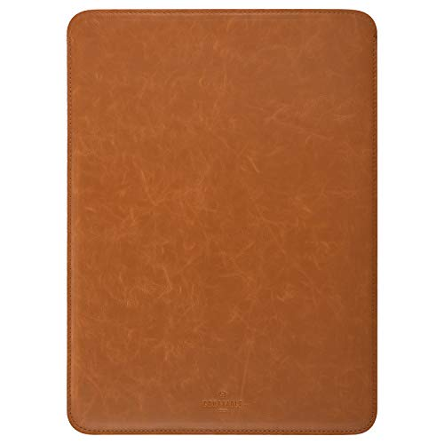 Comfyable Laptop Sleeve for for 16' MacBook Pro, Faux Leather, Bourbon Brown