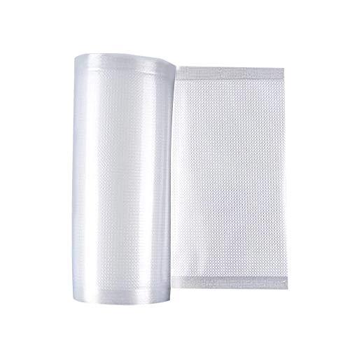 DECDEAL Sacos de selador a vácuo Rolls 2 Pack de rolos para economizador de alimentos Sacos de vácuo para armazenamento de alimentos Selar uma refeição Seladores a vácuo Comercial Sem BPA