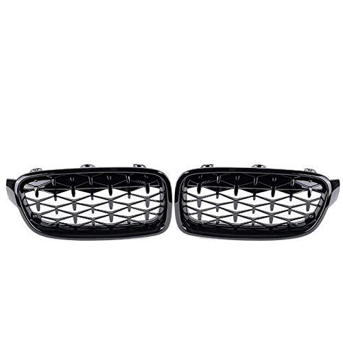 BLH-AMY Accesorios para Parrillas De Automóviles Par De Parrillas De Riñón Delanteras Parrillas De Carreras Negras Brillantes, para BMW F30 F31 F35 320I 328I 335I 2012 2013 2014 2015 2016 20