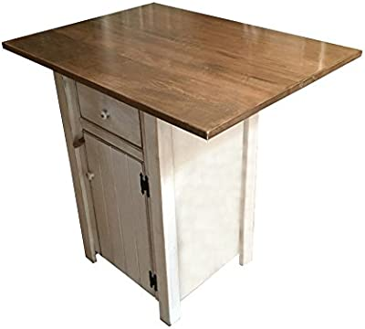 Amazon Com Small Kitchen Island Counter Height Amish Made In Usa Kitchen Islands Carts