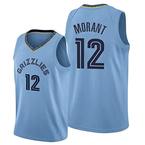 WU Ja Morant # 12 NBA Memphis Grizzlies Camiseta De Baloncesto Secado Rápido Respirable Jersey Versión Fan,M