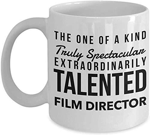 Divertida taza de café, regalo de director de película, taza de té de cerámica blanca extraordinariamente talentosa, ideas de regalo de agradecimiento, taza de porcelana personalizada de 325 ml