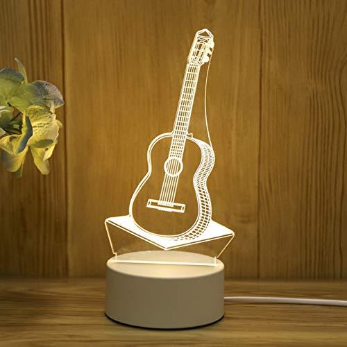 LEEDY LED Nachtlichter 3D USB Acryl Nachtlicht Tisch Schreibtisch Schlafzimmer Dekor Geschenk Warm White Lampe Schlummerlicht Dekor Nachtlichter,Valentine's Day Geschenke (1PC, J)