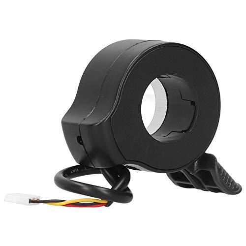 Dilwe Empuñadura de Acelerador de Scooter eléctrico, Accesorios de Bicicleta de Pasillo de Acelerador de Dedo de Scooter Impermeable Antideslizante Duradero(Negro)