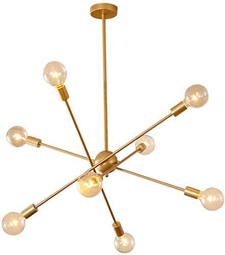 MAMINGBO Sputnik Araña 8 luces de oro del siglo iluminación pendiente Mediados de hierro forjado de techo accesorio ligero Pasillo Bar Cocina Comedor lámpara colgante