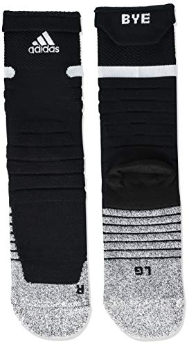 adidas Adizero Football Cushioned Crew Socks (1-Pair),Black/White,L