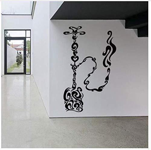 Abnehmbare Shisha Vinyl Aufkleber Shisha Wasserpfeife Wand Dekor House Cafe Rauch Shop Shop Logo Outdoor Zeichen Dekor 42 * 68 Cm