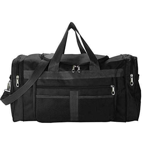 Trintion Sports Gym Duffle Bag with Shoes Compartment Waterproof Large Training Sport Holdall Travel Overnight Weekend Bag for Gym Travel Swimming(Black)