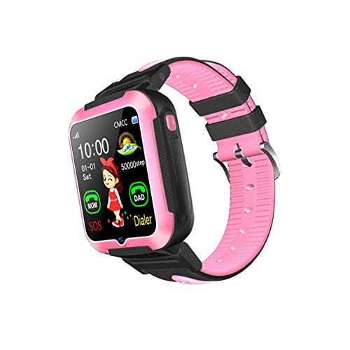 Slimme horloges GPS Tracker-Kids GPS Smart Horloge GPS Tracker Kinderen Horloge Slimme Armbanden Polsbanden met SOS Telefoon Call Voice Chat Locator Stappenteller size 02#