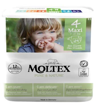 Ontex Moltex Pure & Nature Maxi. Taille 4 (29 pièces) – 200 g.