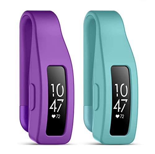 KIMILAR Cliphalter Kompatibel mit Fitbit Inspire & Inspire HR Clip,[2 Pack] Silikon Ersatz Clip Verschluss Gurt Gehäuseabdeckung Zubehör Schutz Hülle Cover Case für Inspire/Inspire HR