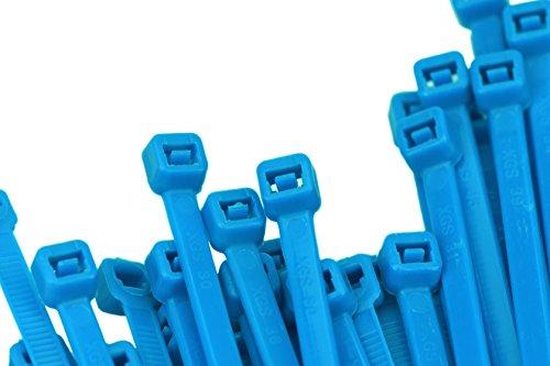 FiveSeasonStuff Fascette per Cablaggio Nylon Stringicavo (5mm*200mm [23KG/50LBS, 100 pz], Blu Cielo - per Uso Generale (Interno / Esterno))