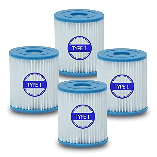 Kseyic Filtro de piscina tipo 1, elemento de filtro de piscina, adecuado para Bestway 58381, filtro de limpieza de piscina de repuesto, 4 piezas