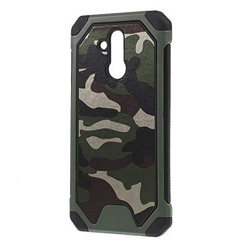 jbTec Hybrid Case Handy-Hülle Camouflage - Schutzhülle Schutz-Schale Cover Tasche Etui Silikon Handyhülle Handytasche, Farbe:Oliv-Grün, passend für:Huawei Mate 20 Lite