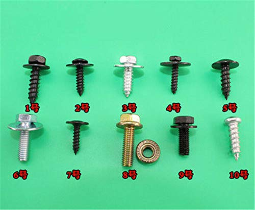 220 Pieces Boxed M4 M5 M6 Self-Tapping Screws Assortment Kit Car Fender Body Bolts Metric Thread Trim Panel Retainers Fastener Retaining Clips Kit 10 Kinds Model