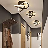DAXGD Lámpara de techo LED, lámparas colgantes de techo modernas de 18 W, lámpara de araña LED decorativa para pasillo de armario de balcón, luz blanca cálida de 3000K
