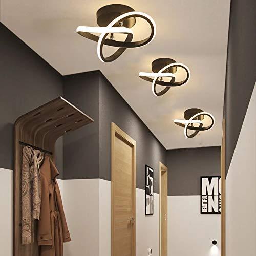 DAXGD Lampade da soffitto moderne 18W Plafoniera LED, lampadario LED decorativo per corridoio guardaroba balcone, luce bianca calda 3000K