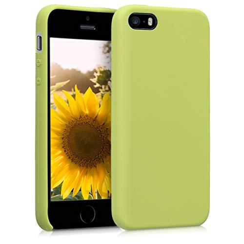 kwmobile Cover Compatibile con Apple iPhone SE (1.Gen 2016) / 5 / 5S - Custodia in Silicone TPU - Back Case Protezione Cellulare Verde Matcha