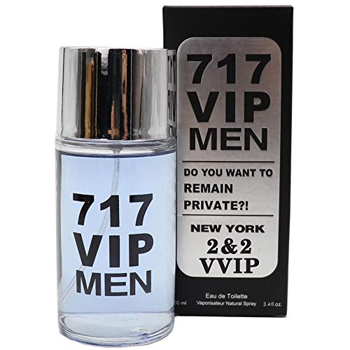 J&H 217 VIP MEN, Eau De Toilette Spray for Men, Wonderful Gift, Signature scent, Daytime and Casual Use, for all Skin Types, 3.4 Fl Oz
