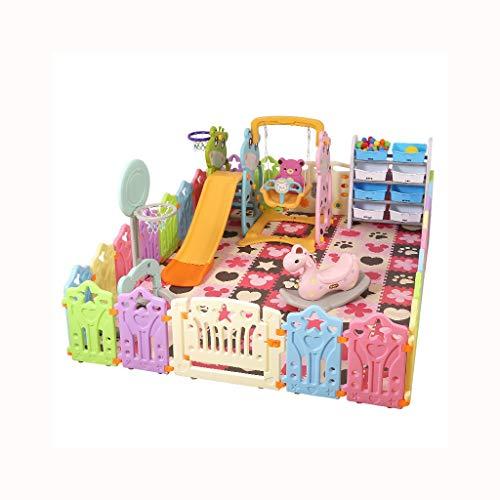 LIUFS-Laufställe Spiel Zaun Indoor Fence Krabbeln Matte Home Kinder Zaun Sicherheitszaun Kleinkind Spielzeug (Farbe : Bunte, größe : 12+2 Fence)
