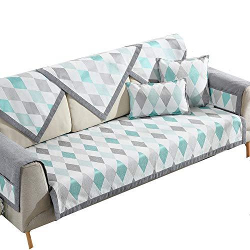 Couch überzüge Sofa Sessel Stuhl abdeckungen für Sessel Stretch Sofa Abdeckung Klippan Sofa Abdeckung Sofa Kissen Abdeckung Hund Sofa abdeckungen 70X180,Green White