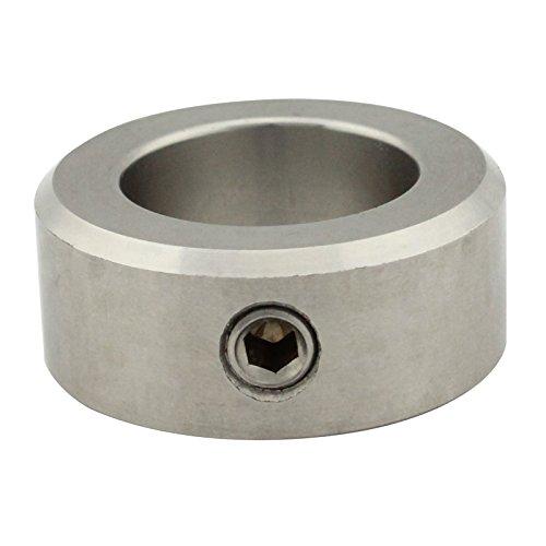 Stellringe für Welle/Achse - Innen-Ø = 20 mm [A20] - (2 Stück) - DIN 705 Form A - mit Gewindestift (DIN 914, mit Spitze) - Edelstahl A2 (V2A) - SC705   SC-Normteile