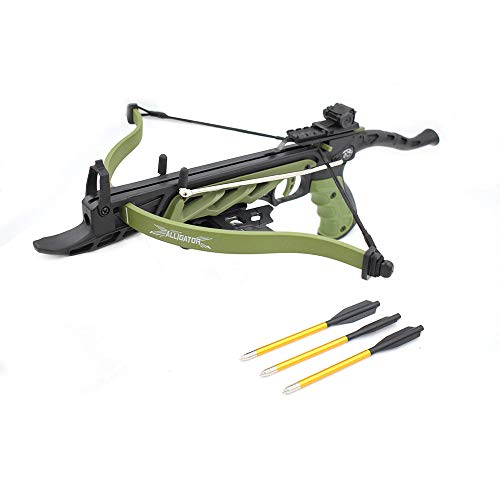Snake Eye Tactical Cobra System Self Cocking Pistol Tactical Crossbow, 80-Pound (Green)