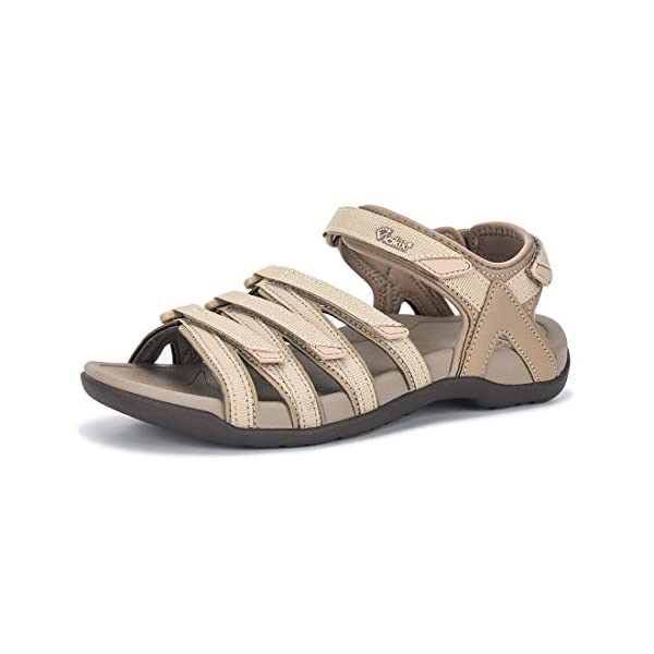 Viakix Hiking Sandals Womens – Comfortable Athletic Stylish Sandal, for Hiking, Outdoors, Walking, Water, Trekking, Sports