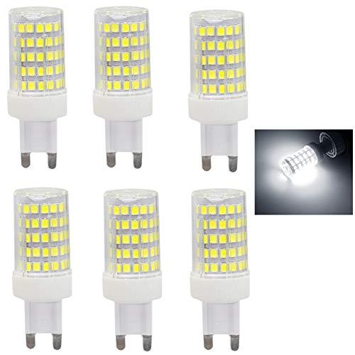 Lampade a LED G9 10W equivalenti a 80W Bianco Freddo 6000K 850LM,AC220-240 V,non dimmerabile,confezione da 6