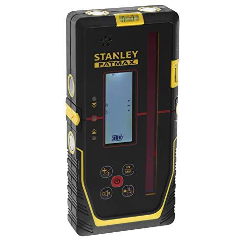 Stanley FMHT77652-0 FatMax-Receptor rotativo (para láser Rojo, Gran área de Trabajo, Radio, 2 Niveles de precisión, Ventana Extragrande), Negro y amarillo, 600 m, Radius 300 m