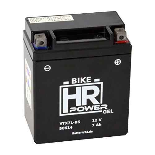 GEL Motorrad Batterie 12V 7Ah YTX7L-BS 50614 wartungsfrei