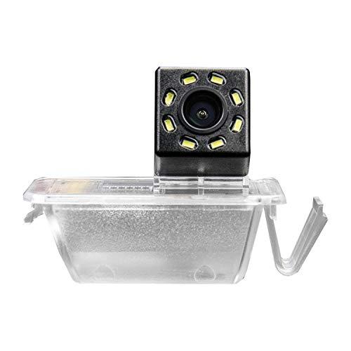 HD 720p Farb Rückfahrkamera integriert in die Kennzeichenbeleuchtung Kamera Einparkhilfe mit Distanzlinien für FIAT 500 / C Abarth CANBUS 2009-2015