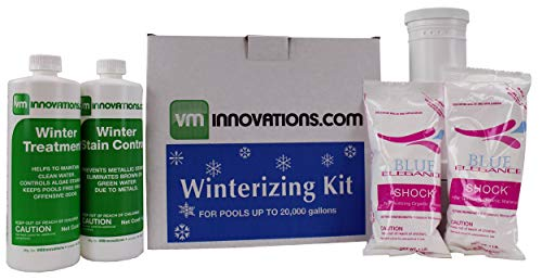 Swimming Pool Winterizing Chemical Treatment Closing Kit - Up To 20,000 Gallons