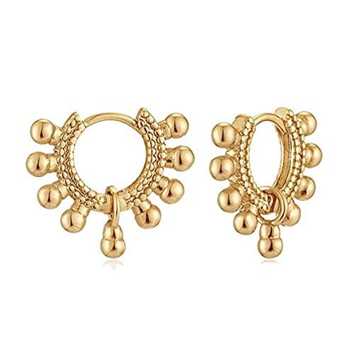 Persdico Pendientes de Oro Bohemios para Mujer, Pendientes de Ciruela hipoalergénicos Hechos a Mano, Regalos de joyería, Colgantes de Oreja para Mujer