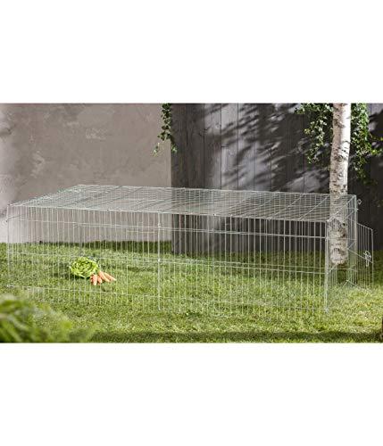 Dehner 4097218 Enclos pour Petit Animal à jogs Env. 216 x 116 x 65 cm, métal, XL