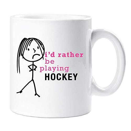 60 Tweede Makeover® Dames Ik zou liever spelen Hockey Mok Cup Nieuwigheid Vriend Gift Valentines Gift Mum Zuster Vriend