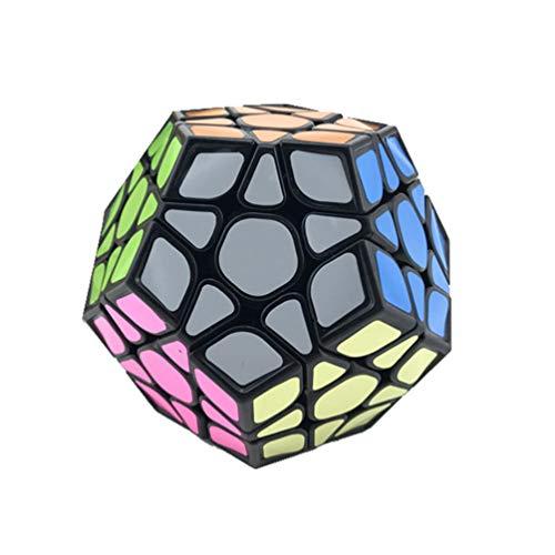 LBFXQ Professioneller Rubix Cube, Zauberwürfel 3x3 Puzzle Cube Fast & Smooth Magic Cube, dauerhafte Glatte Puzzlespielzeug tragbar für Erwachsene,Schwarz