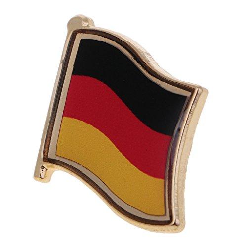 sharprepublic 1 Stück Metall Flagge Abzeichen Für Handwerk Souvenir Revers Binden Broschen DIY Platz - Deutschland