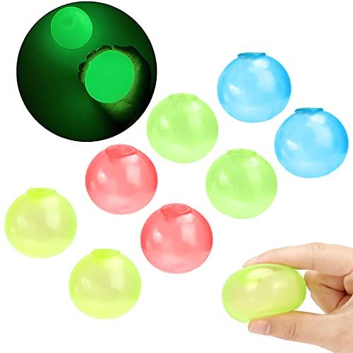 Bola Pegajosa Fluorescente,8PCS Pelota Antiestrés,Bola Adhesiva Antiestrés,Fluorescente Sticky Target Wall Balls,Fidget Toy para Adolescentes,Juguete de Descompresión para Adultos niños (8pcs)