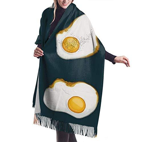 Nifdhkw Tocino y huevos comida mujer bufanda Pashmina chal abrigo estola para vestido de noche dama de honor boda