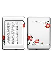 igsticker kindle paperwhite 第4世代 専用スキンシール キンドル ペーパーホワイト タブレット 電子書籍 裏表2枚セット カバー 保護 フィルム ステッカー 016452 花 植物