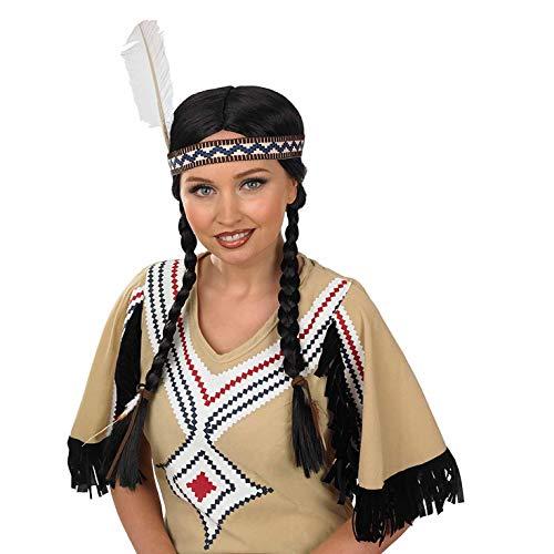Fun Shack Perruque Amérindien Noir pour Femme - Taille Unique