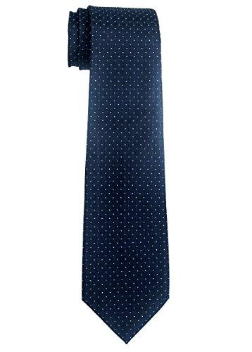 Retreez Jungen Gewebte Krawatte Textur Karo - 8-10 Jahre - marineblau