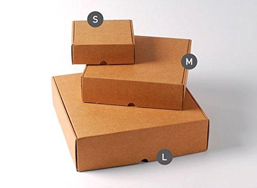 Selfpackaging Caja automontable para envíos Cuadrada Muy Resistente, en cartón microcanal Color Kraft. Pack de 50 Unidades - S