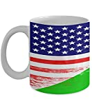 N\A USA Dschibuti Flagge Afrika Afrikaner 11oz weiße Kaffeetasse Teetasse
