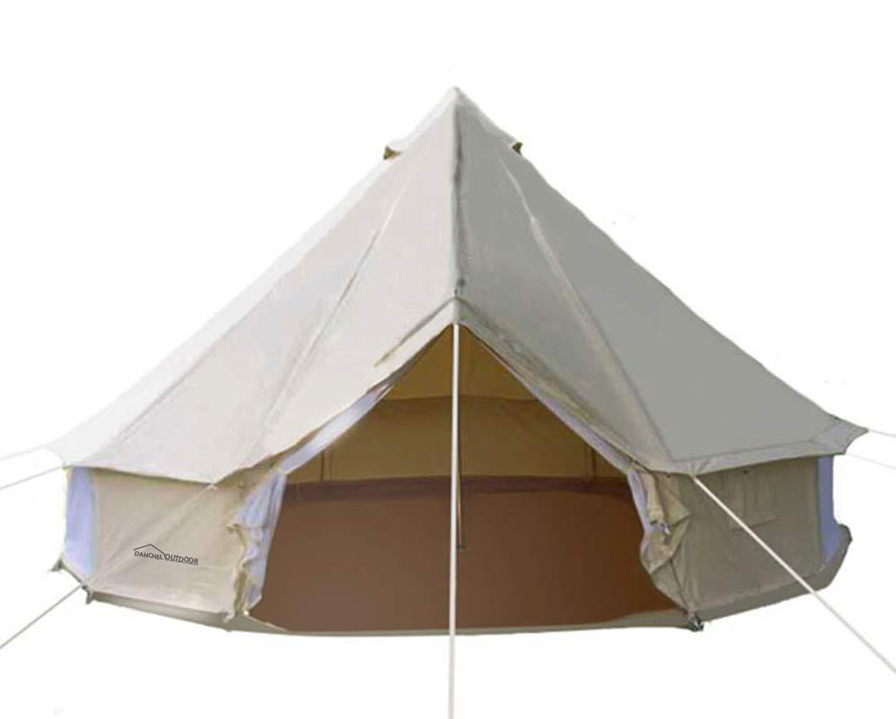 DANCHEL 4-Season Family Cotton Bell Tents (10ft 13.1ft 16.4ft 19.7ft  sc 1 st  Amazon.com & Canvas Tents for Camping: Amazon.com