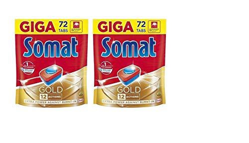Somat Gold Geschirrspültabs, 72 Tabs, 2 Stück