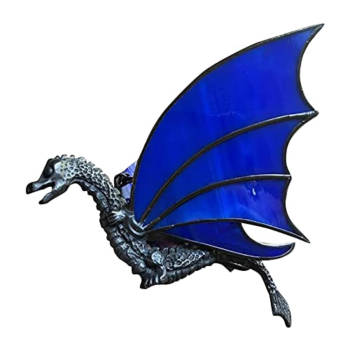 Colgante de dragón para colgar, adornos de ventana para el hogar de dinosaurio vívido y realista, adornos colgantes de espejo retrovisor de coche de resina hechos a mano, para decoración de árboles de