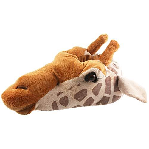 Tierhausschuhe Unisex Hausschuhe Giraffe, Braun, 45/46, TH-Gira