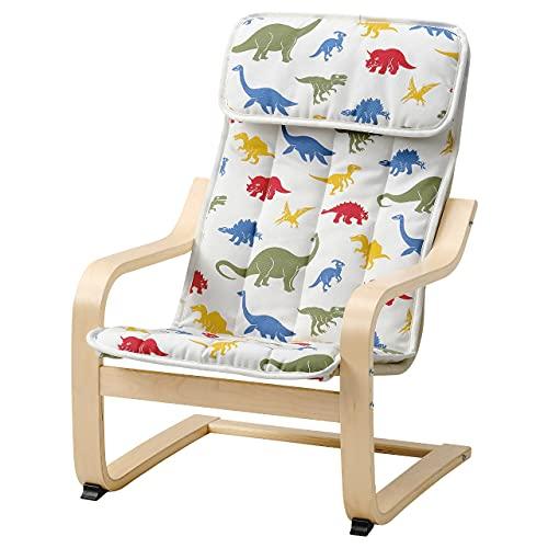 POANG - Sillón infantil, diseño de dinosaurios Medskog